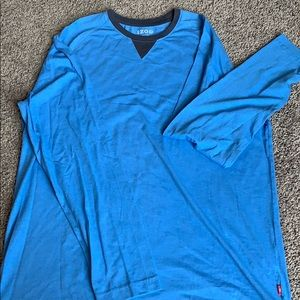 Blue Izod long sleeve t shirt
